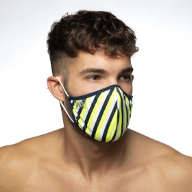VERTICAL STRIPES MASK YELLOW 03