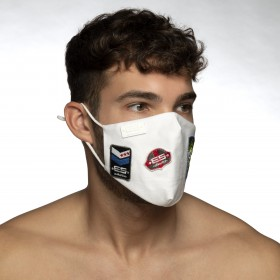 JEANS SHIELD FACE MASK WHITE 01