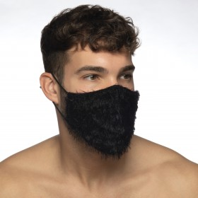 FEATHER FACE MASK BLACK 10