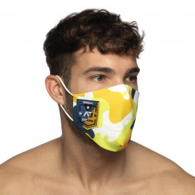 CAMO SHIELD AD FACE MASK YELLOW 03