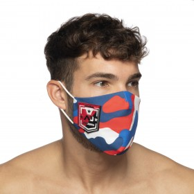 CAMO SHIELD AD FACE MASK RED 06