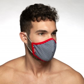 AC098 PIQUE MASK RED 06