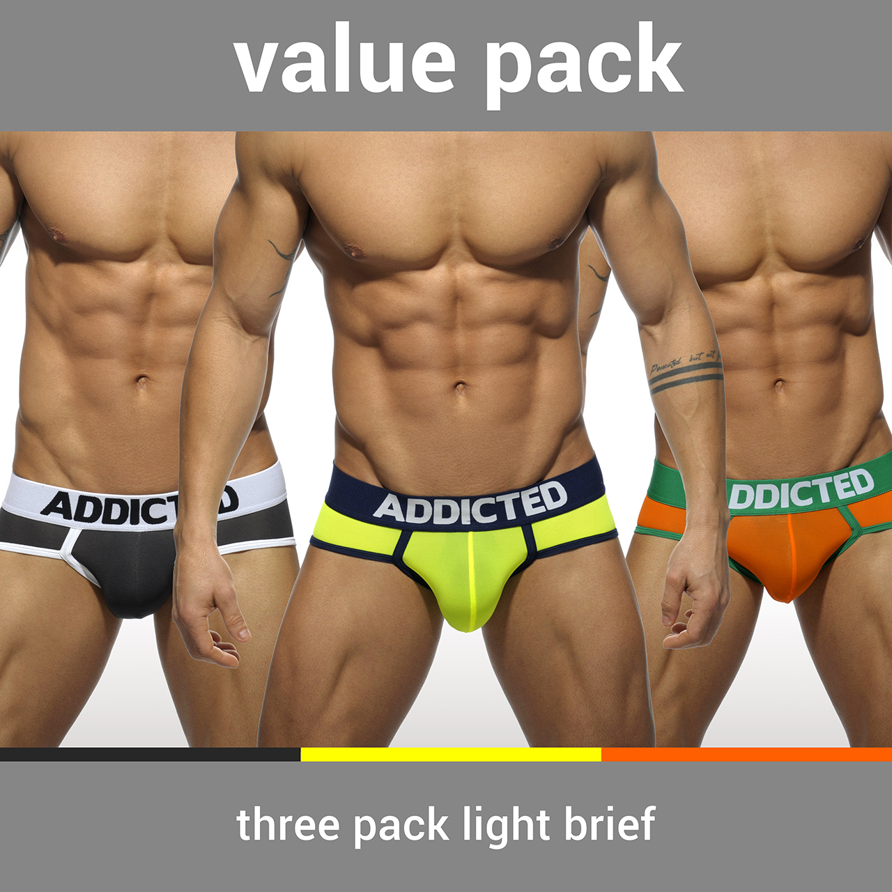 3 PACK LIGHT BRIEF 3 COLOURS