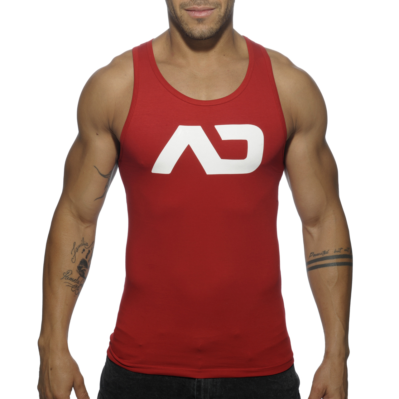 BASIC AD TANK TOP RED 06