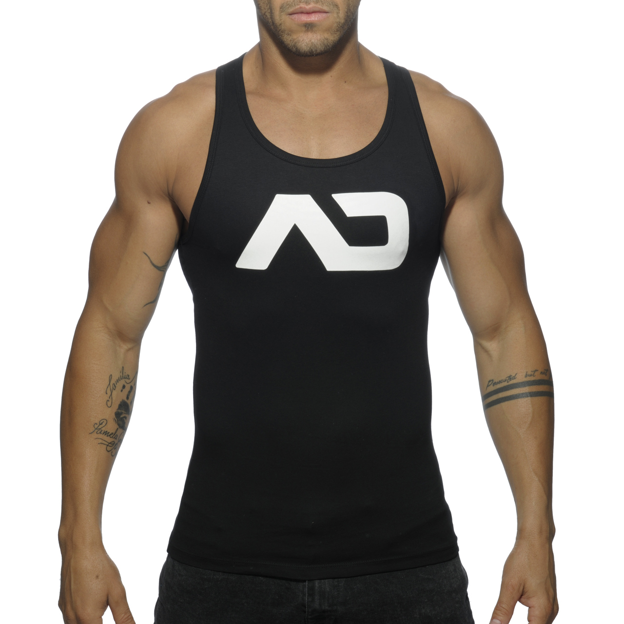 BASIC AD TANK TOP BLACK 10