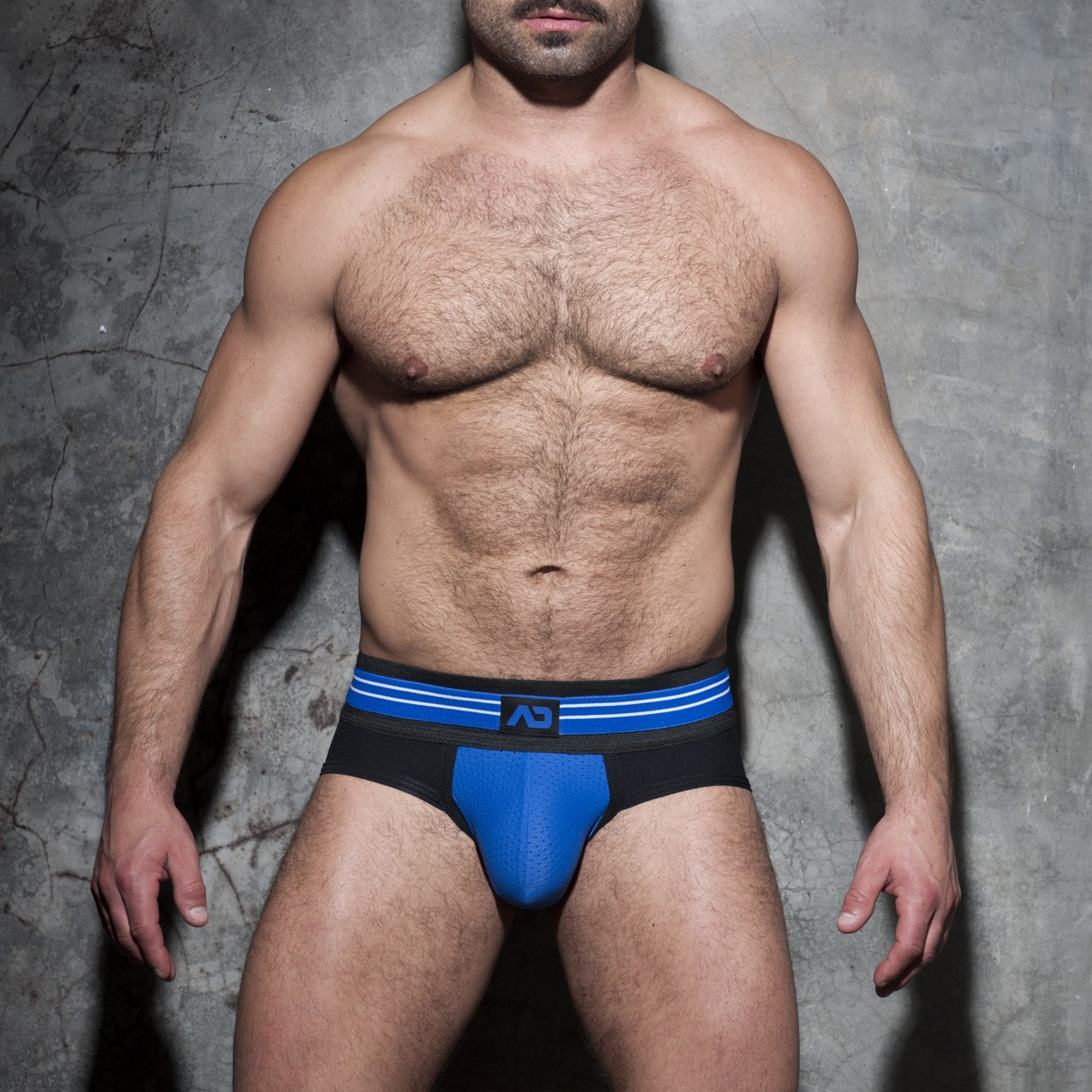 DOUBLE STRIPE BRIEF BLEU ROYAL 16