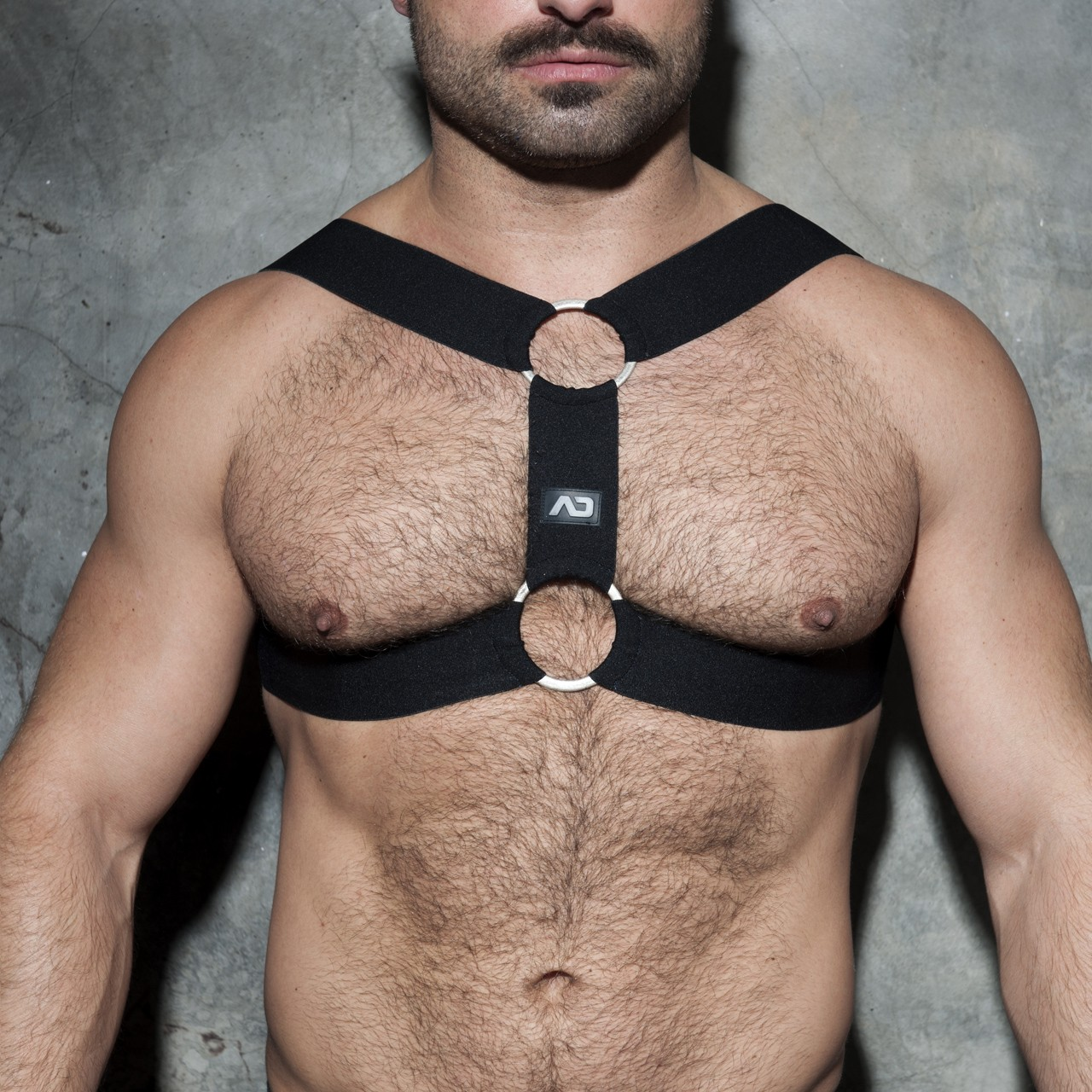 DOUBLE RING HARNESS BLACK 10
