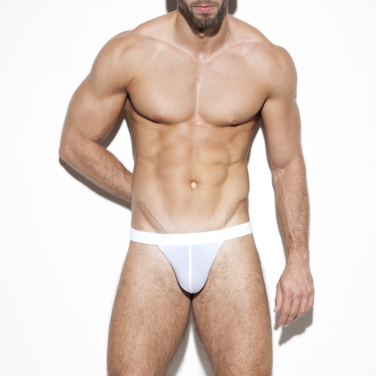 SECOND SKIN BASIC THONG WHITE 01