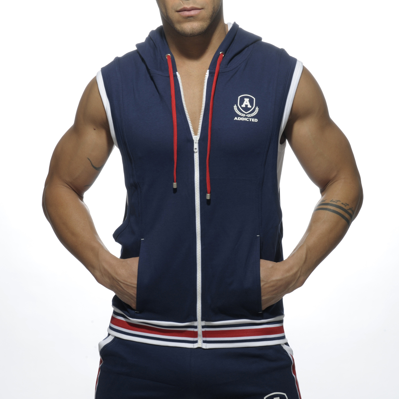 ZIP COTTON HOODY NAVY 09