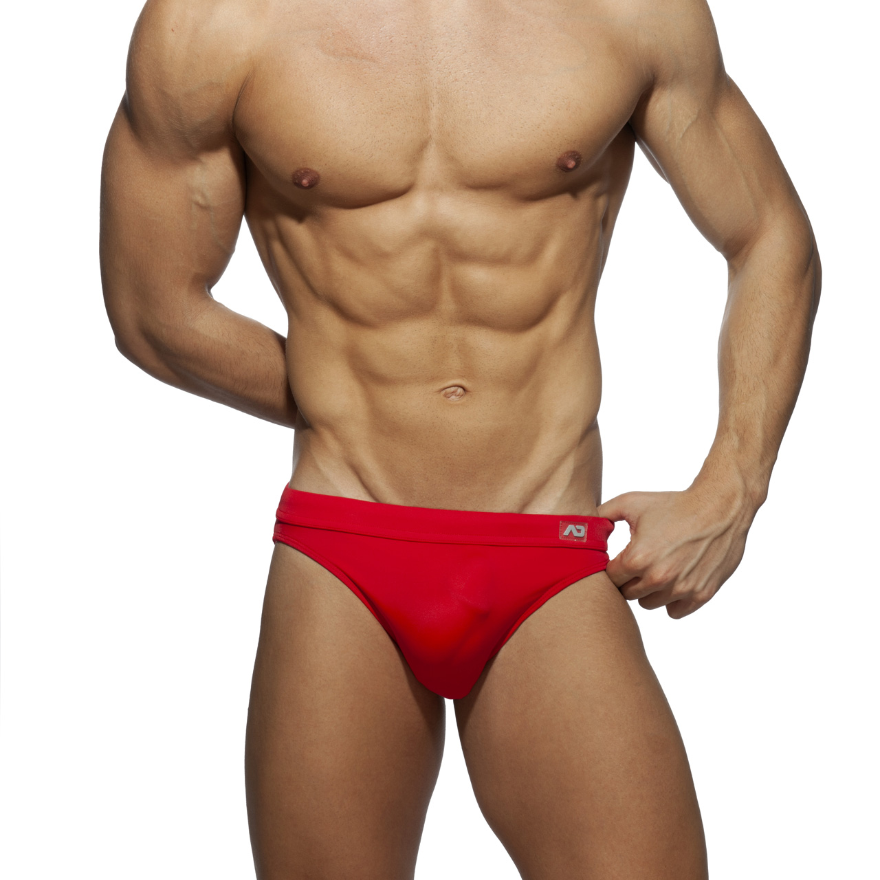 DICK UP SWIM BRIEF RED 06