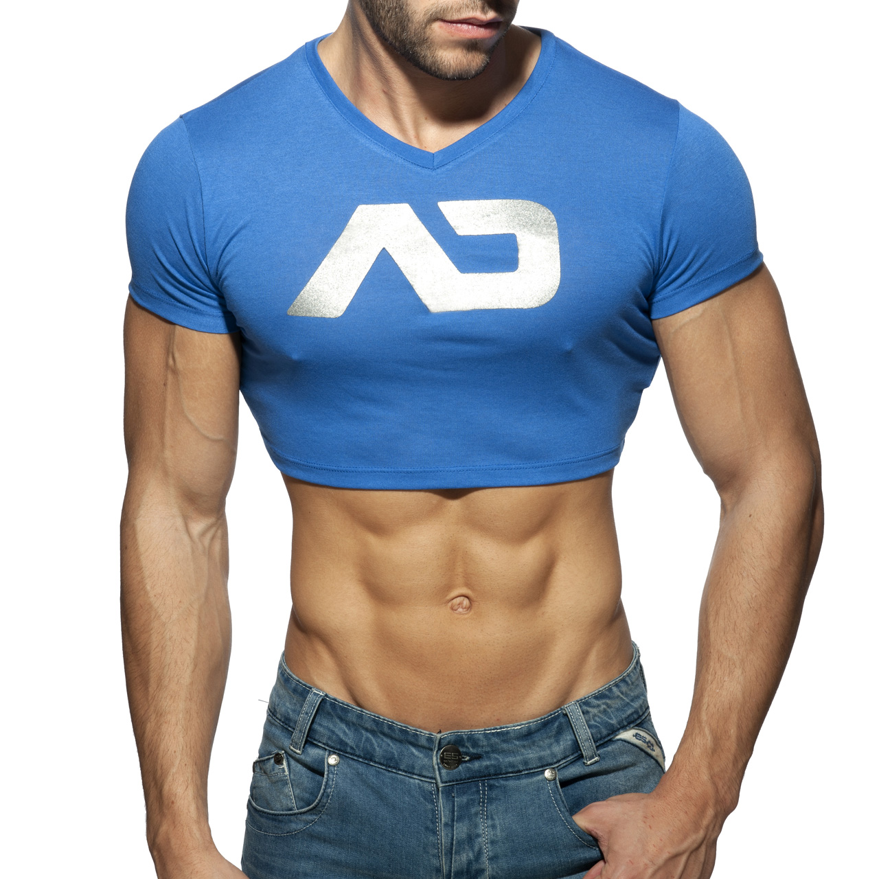 CROP AD TOP ROYAL BLUE 16